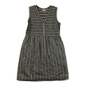 Max Studio Black & White Geometric Stripe Dress